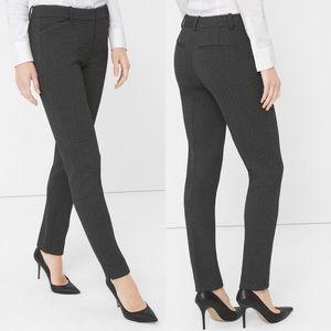 WHBM Herringbone Stretch Slim Ankle Dress Pants